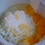 4. Zmiksować składniki namasę serową