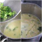 5. Dodać kawałki brokuła imakaron dozupy