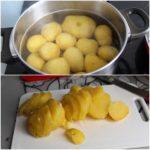 1. Ugotować ipokroić ziemniaki