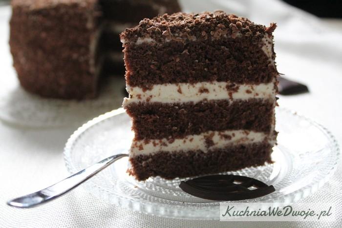 063 Tort mocno czekoladowy zmasą śmietanową KuchniaWeDwoje.pl 2