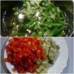 2. Ugotować szparagi ipokroić resztę składników