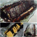8. Ciasto polać polewą czekoladową iudekorować kokosem