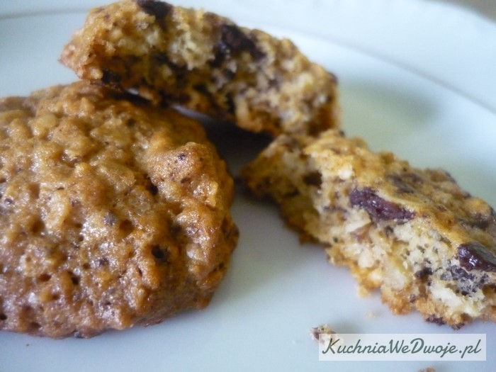 090 Owsiane ciasteczka czekoladowe [KuchniaWeDwoje.pl]
