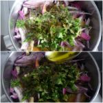 3. Wymieszać cebulę iczosnek zprzyprawami ioliwą