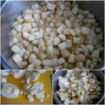 5. Poddusić kawałki jabłek