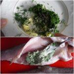 5. Wysmarować rybę masłem zkoperkiem