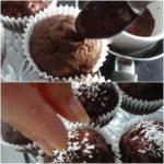 6. Polać babeczki czekoladą iposypać kokosem
