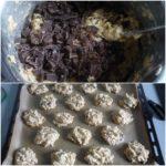 8. Dodać czekoladę idelikatnie wymieszać, uformować ciastka
