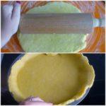 2. Rozwałkować ciasto iprzełożyć doformy