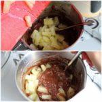 4. Dodać pokrojone ananasy idelikatnie wymieszać