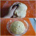 3. Zagnieść ciasto iodstawić dowyrośnięcia