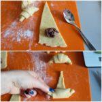 5. Zwinąć rogaliki zmasą czekoladową