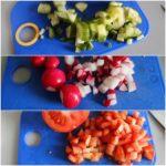 2. Pokroić warzywa