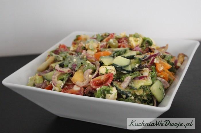 Salatka zfeta iostrym sosem KuchniaWeDwoje_PL