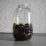 3. Przełożyć owoce dodużego (2-3 litrowego) słoja